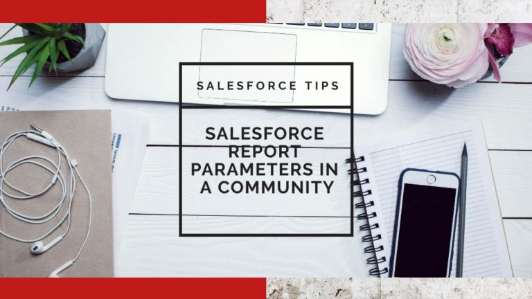Salesforce Report Parameters in a Community