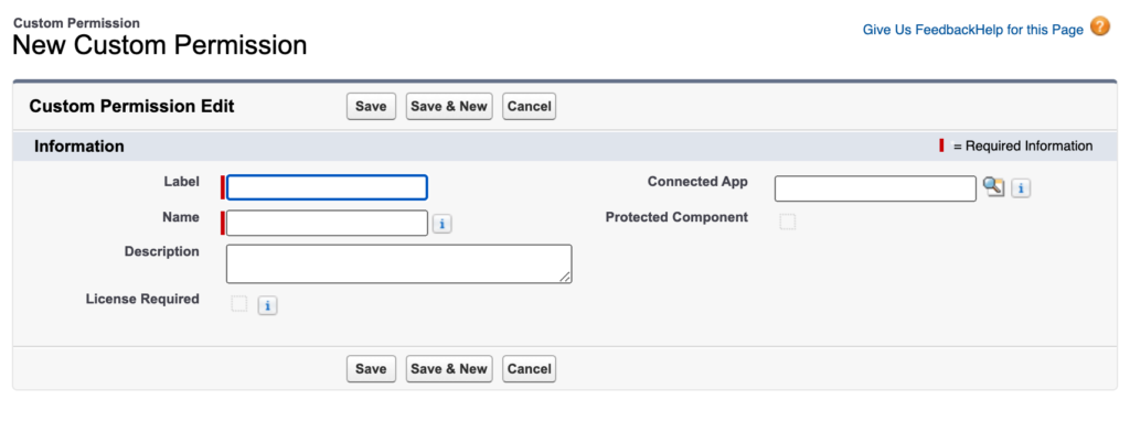 Salesforce custom permission