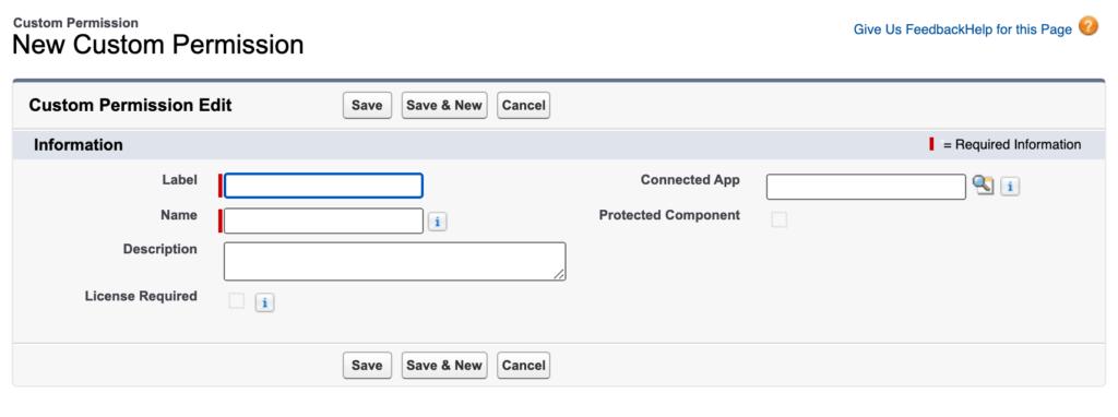Salesforce custom permission