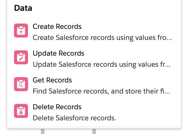 Salesforce flow DML statements