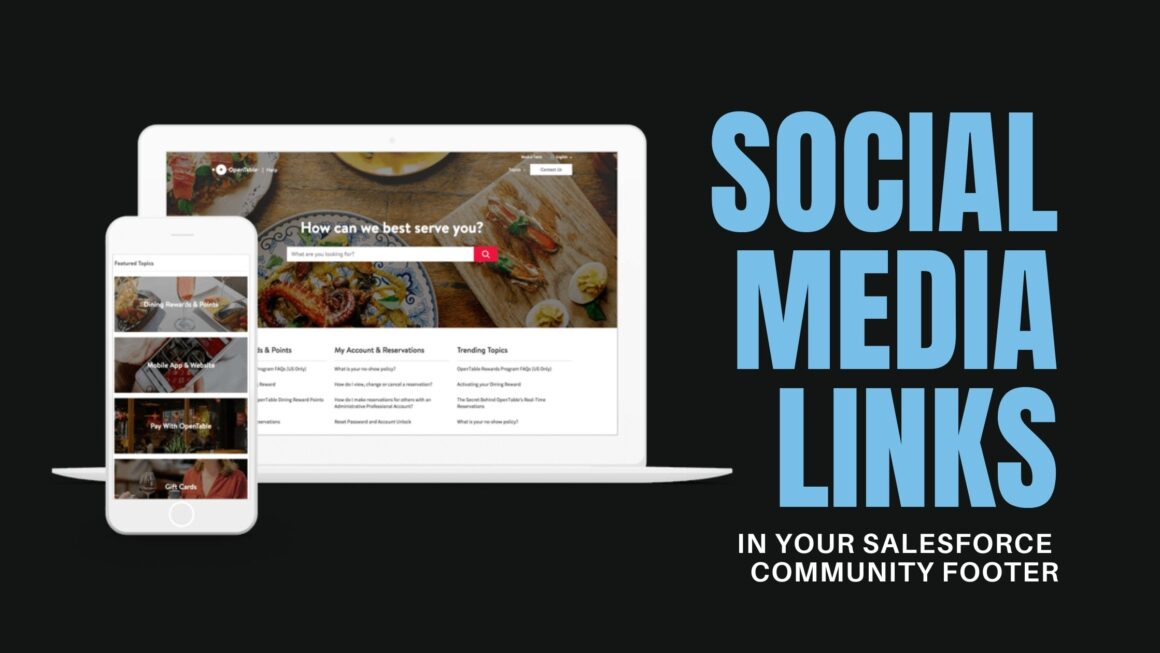 Salesforce Community Social Media Links in a Footer