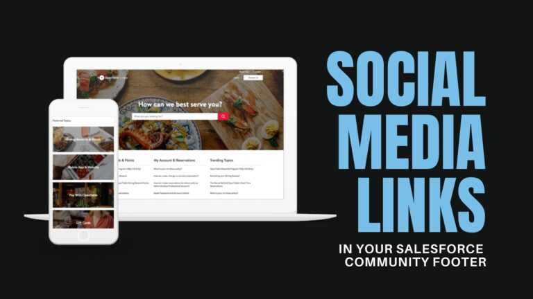 Salesforce Community Social Media Links