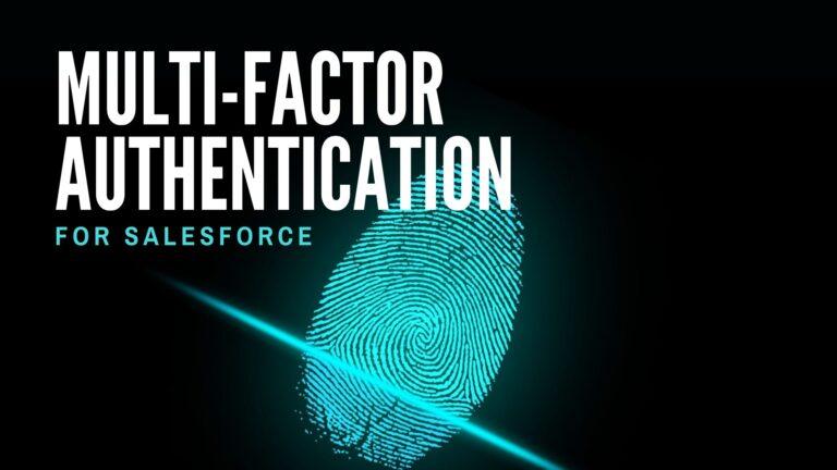 Salesforce multi-factor authentication